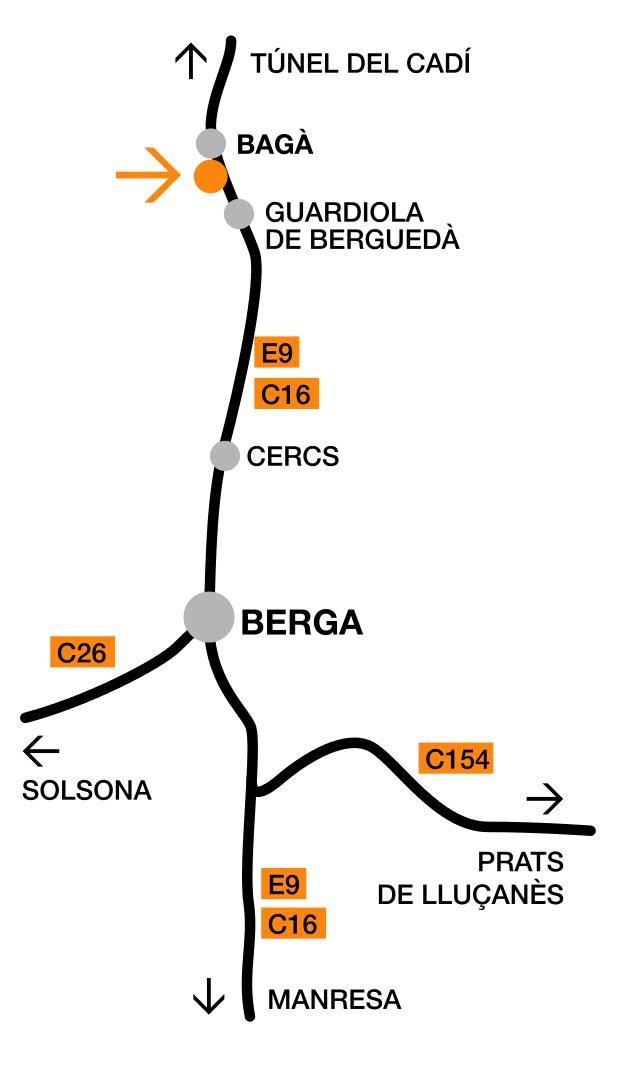 Mapa Carreteres Molí del Casó
